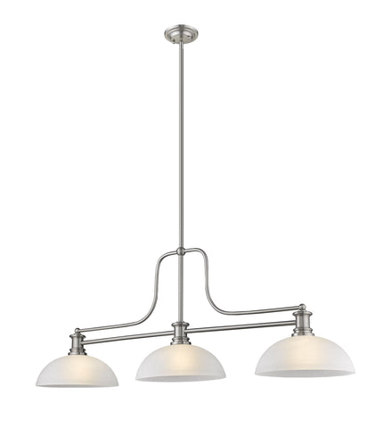 Z-Lite 725-3BN-DWL14 Melange Collection 3 Light Chandelier Brushed Nickel Finish