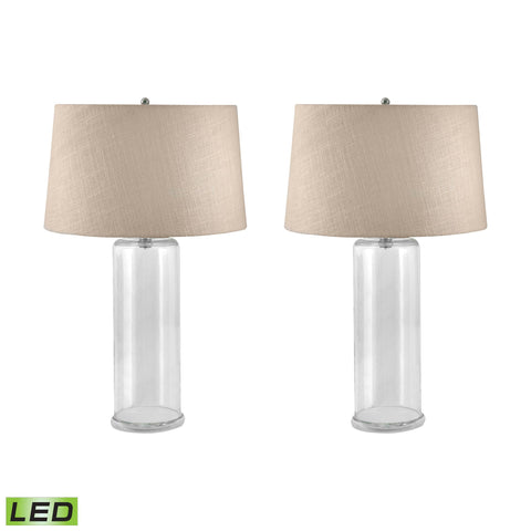 Lamp Works LAM-750/S2-LED You-Fill-It Collection Clear Finish Table Lamp