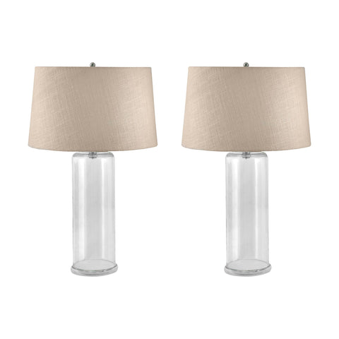 Lamp Works LAM-750/S2 You-Fill-It Collection Clear Finish Table Lamp
