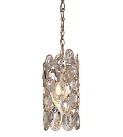 Crystorama 7580-DT Sterling 1 Light Distressed Twilight Pendant - PeazzLighting