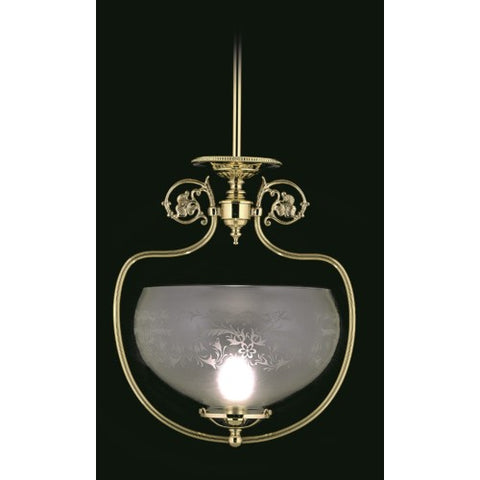 Framburg 7801-PB 1-Light Polished Brass Chancery Pendant