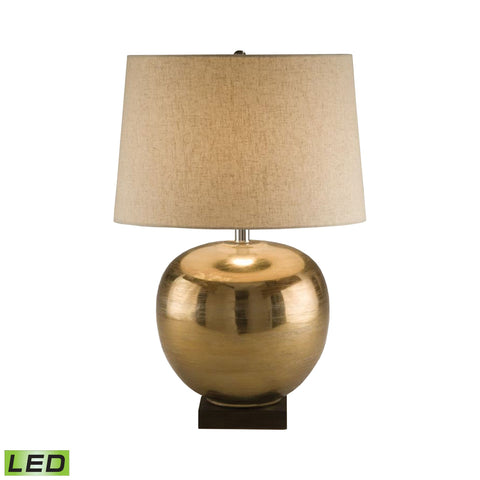 Lamp Works LAM-8000-LED Metal Collection Brass Finish Table Lamp