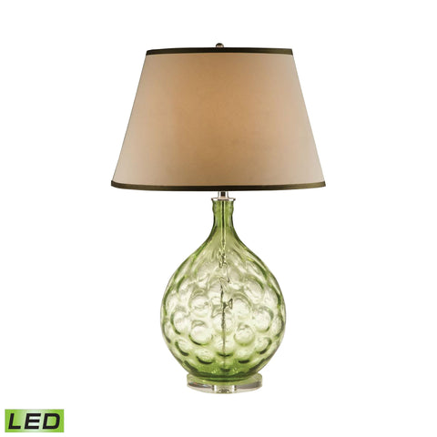 Lamp Works LAM-8010-LED Glass Collection Green Finish Table Lamp