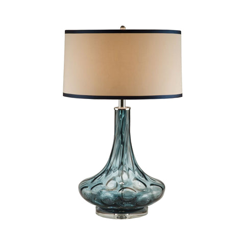 Lamp Works LAM-8011 Glass Collection Blue Finish Table Lamp