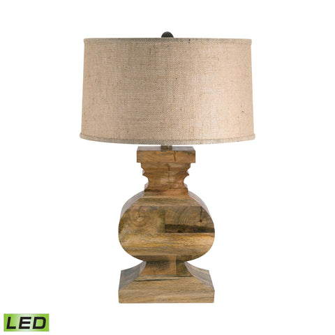 Lamp Works LAM-807-LED Wood Collection Natural Finish Table Lamp