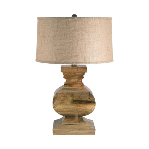 Lamp Works LAM-807 Wood Collection Natural Finish Table Lamp