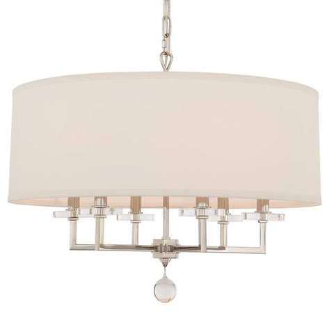 Crystorama Paxton 6 Light Polished Nickel Chandelier