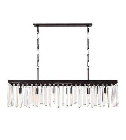 Crystorama 8407-FB Hollis 6 Light Bronze Chandelier - PeazzLighting