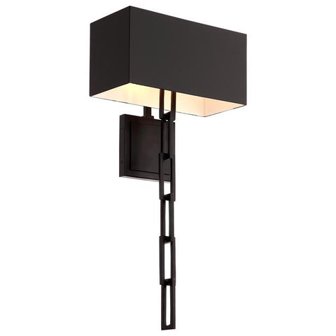 Brian Patrick Flynn For Crystorama Alston 2 Light Matte Black Out side & White Inside Sconce