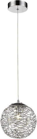 Z-Lite 889CH-8MP 1 Light Mini Pendant Nabul Collection Chrome Finish - ZLiteStore