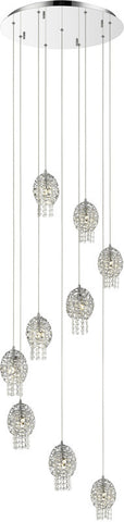 Z-Lite 889CH-9 9 Light Pendant Nabul Collection Chrome Finish - ZLiteStore