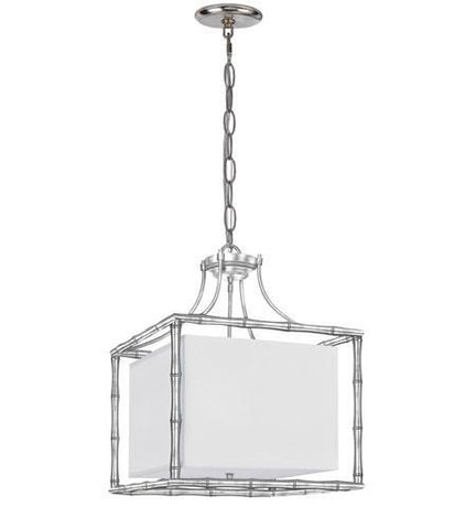 Crystorama 9015-SA Libby Langdon for Masefield 4 Light Antique Silver Chandelier - PeazzLighting