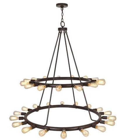 Crystorama 9049-CZ Dakota 33 Light Bronze Chandelier - PeazzLighting