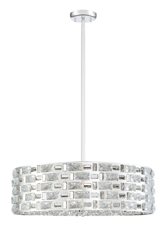Z-Lite 912P24-CH Aludra Collection 7 Light Pendant Chrome Finish