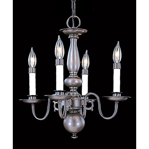 Framburg 9143-sp 4-light Satin Pewter Jamestown Mini Chan...