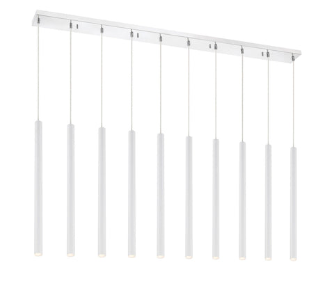 Z-Lite 917MP24-WH-LED-10LCH Forest Collection 10 Light Island/Billiard Matte White Finish
