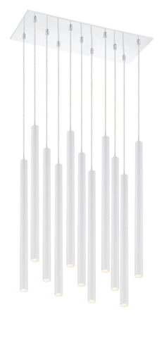 Z-Lite 917MP24-WH-LED-11LCH Forest Collection 11 Light Island/Billiard Matte White Finish