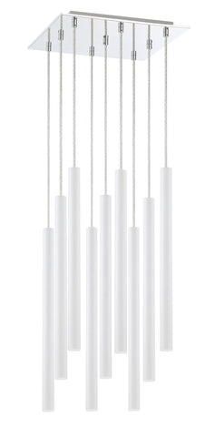 Z-Lite 917MP24-WH-LED-9SCH Forest Collection 9 Light Island/Billiard Matte White Finish