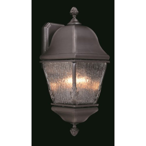 Framburg 9585-IRON 3-Light Iron Coeur De Lion Exterior Wall Mount