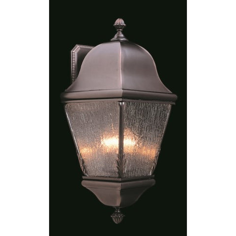 Framburg 9590-RC 3-Light Raw Copper Coeur De Lion Exterior Wall Mount
