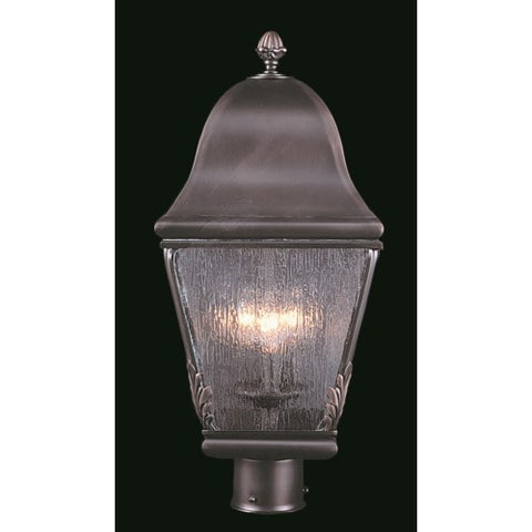 Framburg 9591-IRON 3-Light Iron Coeur De Lion Exterior Post Mount