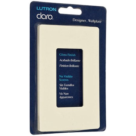 Lutron Cw-1-Al Lutron Claro Single Gang Rocker Wallplate Gloss - Almond