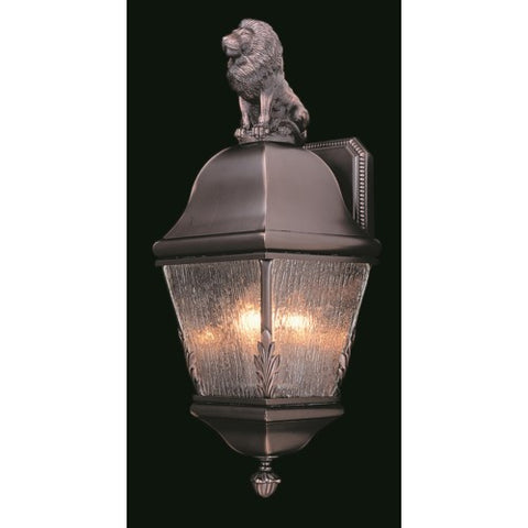 Framburg 9605-IRON 3-Light Iron Coeur De Lion Exterior Wall Mount