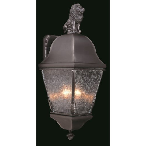 Framburg 9610-IRON 3-Light Iron Coeur De Lion Exterior Wall Mount