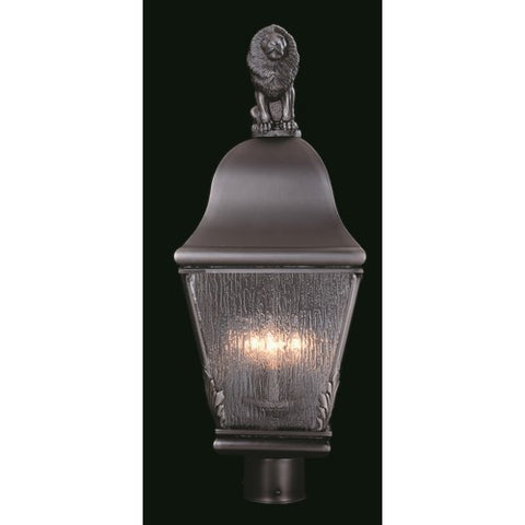 Framburg 9611-SBR 3-Light Siena Bronze Coeur De Lion Exterior Post Mount