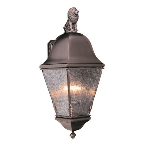 Framburg 9615-RC 4-Light Raw Copper Coeur De Lion Exterior Wall Mount
