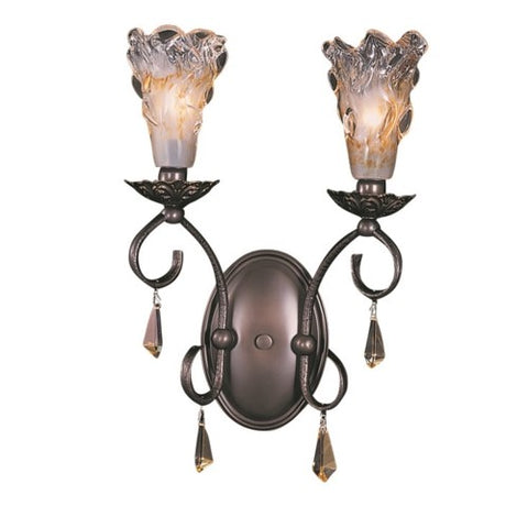 Framburg 9722-MB 2-Light Mahogany Bronze Liebestraum Sconce