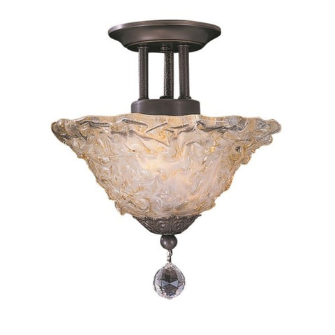 Framburg 9733-MB 2-Light Mahogany Bronze Liebestraum Flush / Semi-Flush Mount