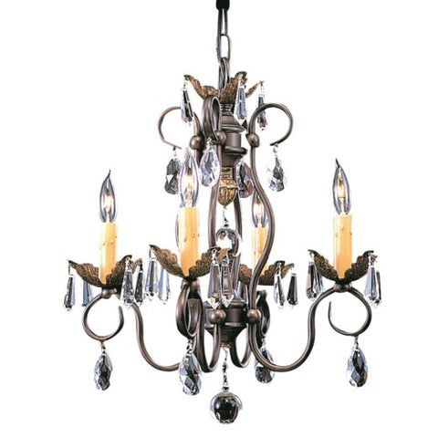 Framburg 9904-MB 4-Light Mahogany Bronze Liebestraum Mini Chandelier