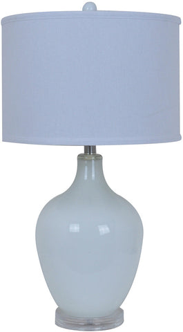 Crestview Collection CVABS811A Avery White Table Lamp 15 X 15 X 10 - PeazzLighting