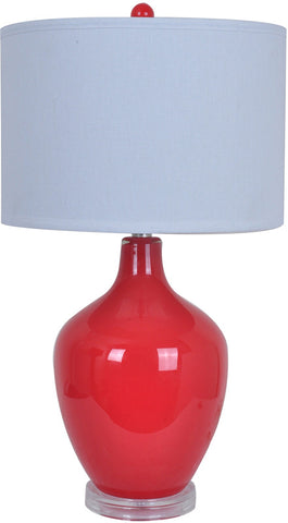 Crestview Collection CVABS811C Avery Red Table Lamp 15 X 15 X 10 - PeazzLighting