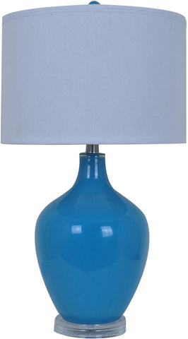 Crestview Collection CVABS811F Avery Blue Table Lamp 15 X 15 X 10 - PeazzLighting