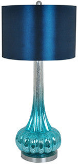 Crestview Collection CVABS821 Peacock Blue Table Lamp 15 X 15 X 10 - PeazzLighting