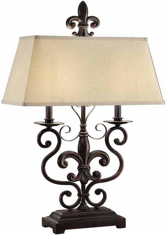Crestview Collection CVAER562 Le Fleur De Table Lamp 16/6 X 20/9 X 9 - PeazzLighting