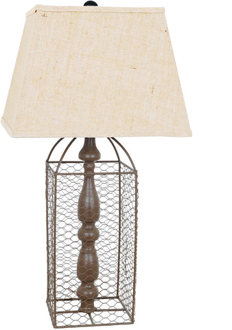 Crestview Collection CVAER572 Coop Table Lamp 10/10 X 14/14 X 10.5 - PeazzLighting