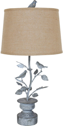 Crestview Collection CVAER573 Spring Planter Table Lamp 13 X 15 X 10.5 - PeazzLighting