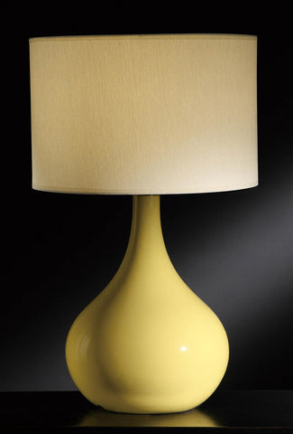 Crestview Collection CVAP1340B Cabot Yellow Table Lamp 16 X 16 X 10.5 - PeazzLighting