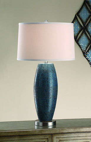 Crestview Collection CVAP1348 Melrose Blue Table Lamp 15 X 16 X 10 - PeazzLighting