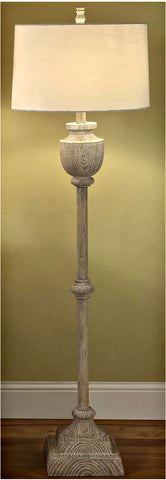 Crestview Collection CVAUP524 Avalon Carved Wood Floor Lamp 16 X 17 X 11 - PeazzLighting