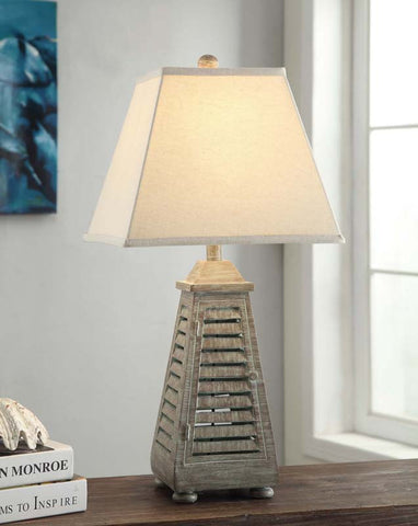 Crestview Collection CVAUP541 Shutter Tower Table Lamp 8/8 X 14/14 X 12 - PeazzLighting