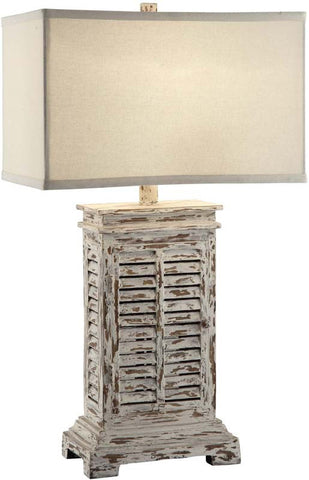 Crestview Collection CVAUP542 Antique Shutter Table Lamp 12/18 X 12/18 X 11 - PeazzLighting