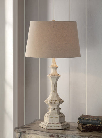 "Crestview Collection CVAUP739 Wooden Column Table Lamp 34""Ht 14 X 17 X 11 - PeazzLighting"
