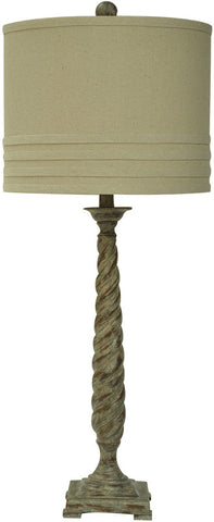 Crestview Collection CVAUP964 Twist Table Lamp 14 X 14 X 11 - PeazzLighting