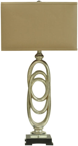 Crestview Collection CVAUP968 Rings Table Lamp 11/18 X 11/18 X 11.5 - PeazzLighting