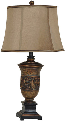Crestview Collection CVAVP360 Saddlemans Table Lamp 14 X 18 X 12.5 - PeazzLighting