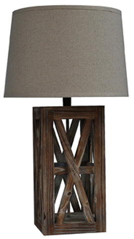 "Crestview Collection CVLY1564 Wooden Café Table Lamp 29""Ht. 14 X 16 X 11 - PeazzLighting"